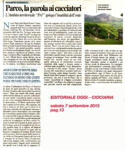 2013.09.07 Ciociaria Oggi