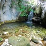Gole di Capo Fiume. Bellissimi e levigati i calcari incisi dal fiume. Vedi articolo di Geologia.